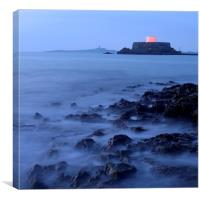 Misty Evening in Guernsey, Canvas Print