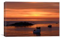 Rocquaine Bay at Dusk, Canvas Print