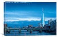 The Shard overlooking the River Thames in London, , Canvas Print
