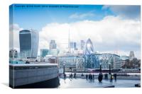 The Financial District in London, UK, Canvas Print