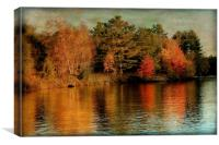 Sunset on the Lake, Canvas Print