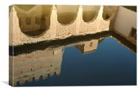 Alhambra Pool, Canvas Print