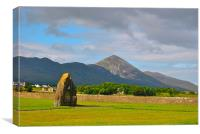 Croagh Patrick in Co Mayo, Canvas Print