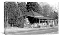 old gas station, Canvas Print