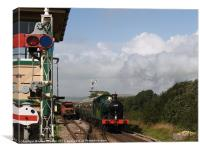 Approaching the Signal Box, Canvas Print