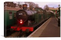 6695 at Swanage Station, Canvas Print