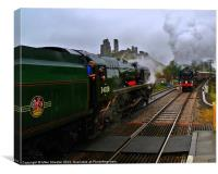 Passing at Corfe 2, Canvas Print