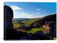 Looking Across Purbeck 3, Canvas Print
