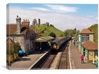 4VEP at Corfe, Canvas Print