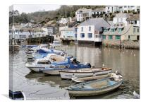 Polperro Harbour, Canvas Print