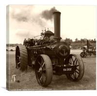Fowler Ploughing Engine, Canvas Print