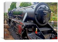 Steam ngine  Number 45407, Canvas Print