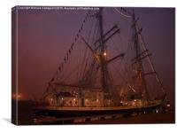 Ghostly Ship, Canvas Print