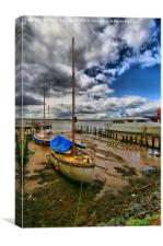 Save And secure Moorings , Canvas Print
