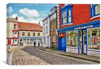 Cobbled Streets Of Staithes , Canvas Print