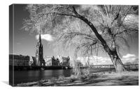 Tay Street and River Tay, Perth, Canvas Print