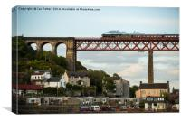 The Flying Scotsman Crossing the Forth Rail Bridge, Canvas Print