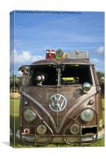 VW camper van, Canvas Print