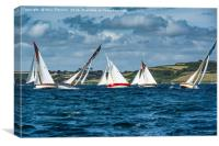 Falmouth Working Boats Race, Canvas Print