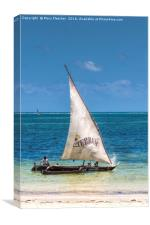 African Sailor, Mombasa, Canvas Print