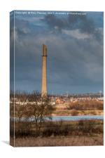 The National Lift Tower, Canvas Print