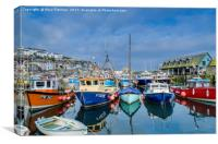 Colourful Mevagissey, Canvas Print