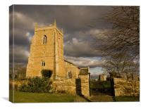 Bringhurst church, Canvas Print