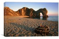 Durdle Door at dusk., Canvas Print