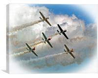 Yak formation Flying., Canvas Print