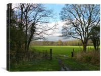 Gateway to Field in Kent, Canvas Print