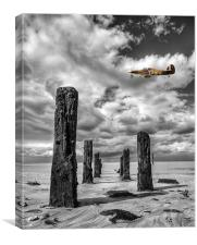 Wood Henge Spitfire YBW, Canvas Print