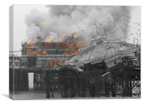 West Pier Fire, Canvas Print