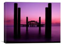 West Pier sunset 2, Canvas Print