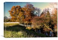 Autumn By The River Leven, Canvas Print