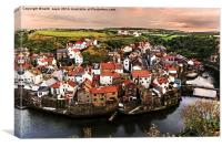 The Village of Staithes , Canvas Print