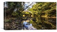 Beggars Bridge Glaisdale, Canvas Print