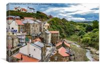 Staithes Up Stream, Canvas Print