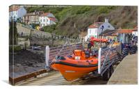 Staithes Inshore Lifeboat, Canvas Print