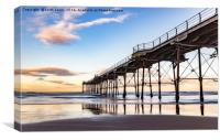 Saltburn in the afternoon light , Canvas Print