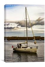 Yacht Whitby Harbour, Canvas Print