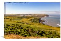 The view from Boulby cliffs, Canvas Print
