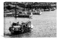 Whitby fishing boat, Canvas Print