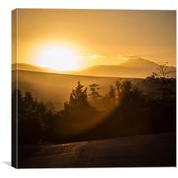 Street Sunset, Canvas Print