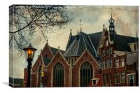 Oude Kerk. Red Lights District. Amsterdam , Canvas Print