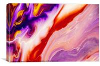 Copper and Purple Flow Streams. Abstract Fluid Acr, Canvas Print