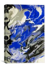 The Rivers of Babylon. Abstract Fragment, Canvas Print
