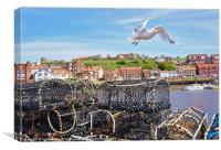 Gull at Whitby, Canvas Print