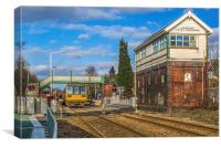 Huncoat railway crossing, Canvas Print