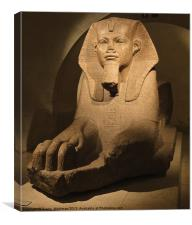 Sphinx at the Louvre, Canvas Print
