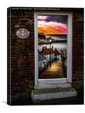 Theatrical Whitby, Canvas Print